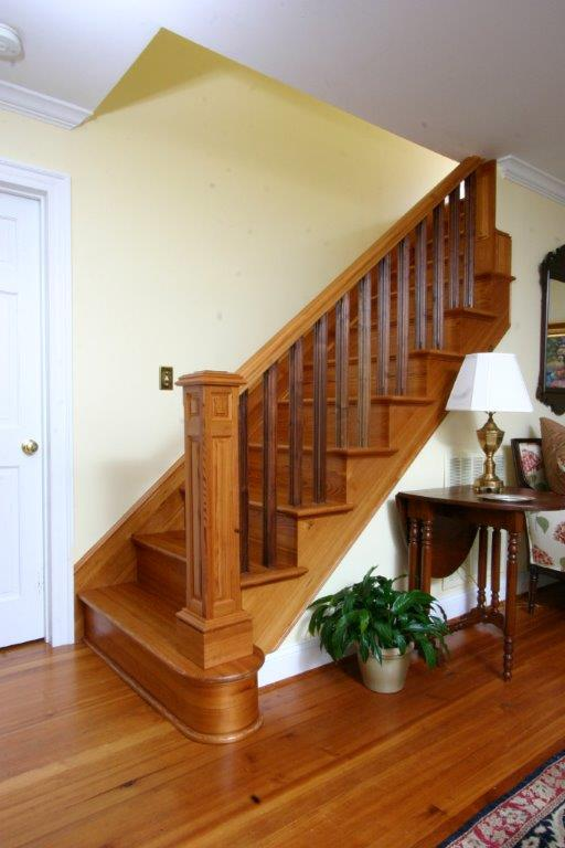 Antique Heart Pine Newell Post & Stair Treads