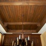 Antique Ash Beams with Bead Board Ceiling
