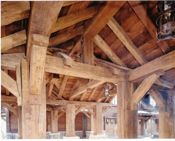 Antique Hand Hewn Beams