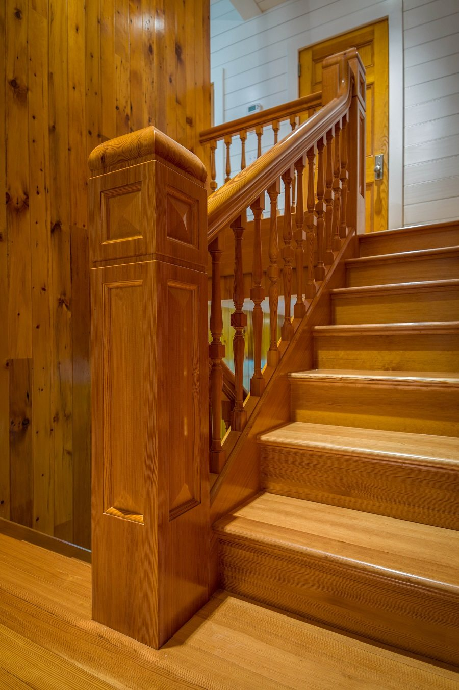 Antique Heart Pine Stair Parts