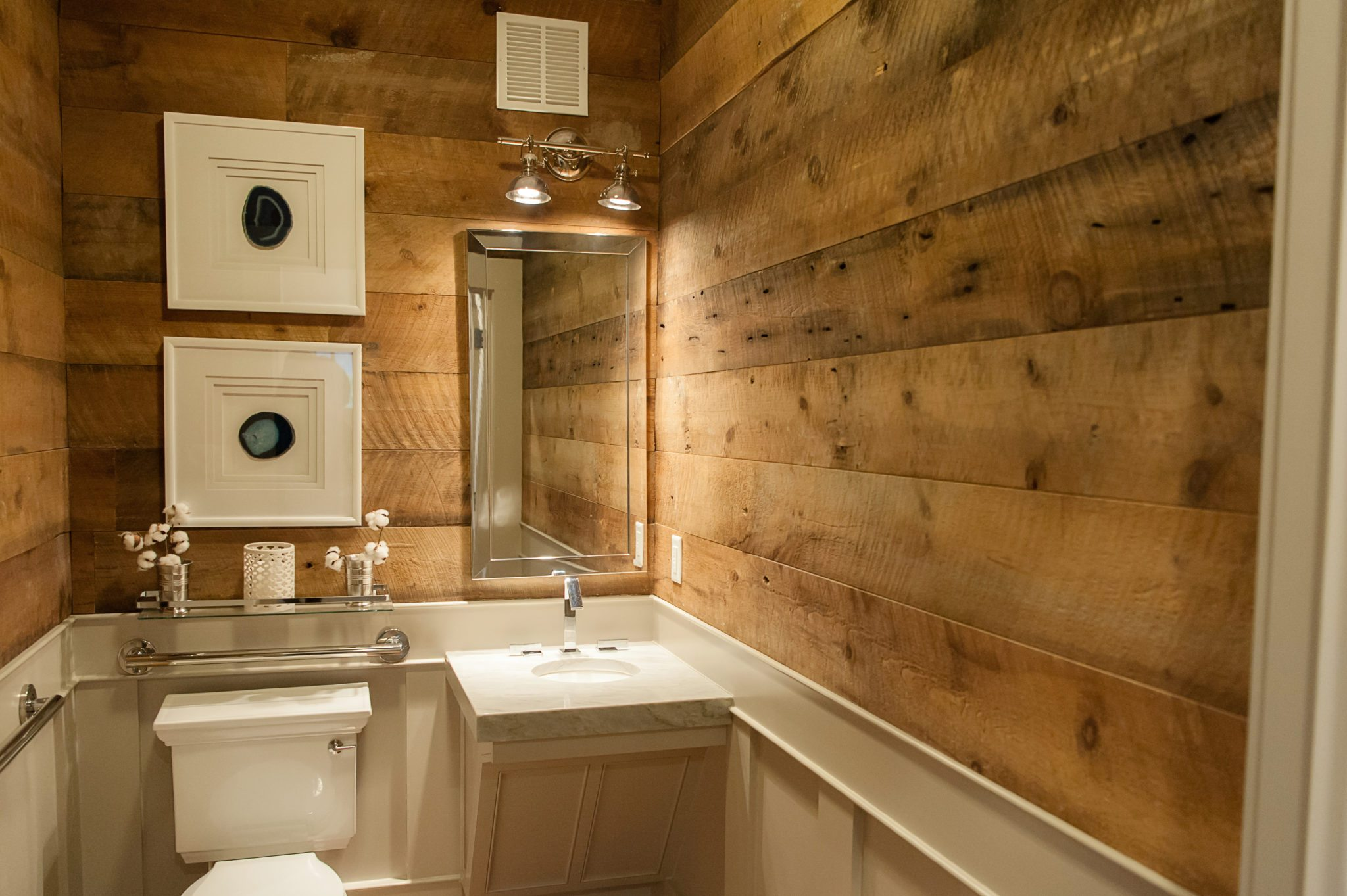 Brown Barnsiding Accent Wall