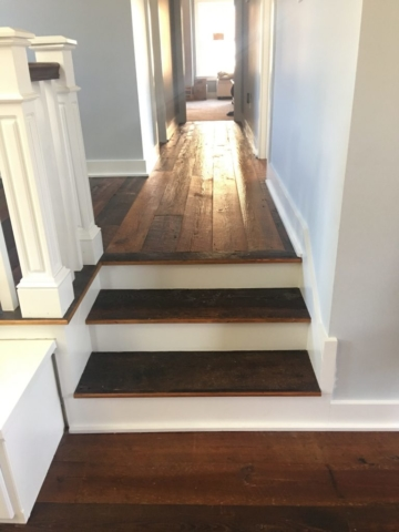 Original Face Heart Pine Flooring and Stair Treads