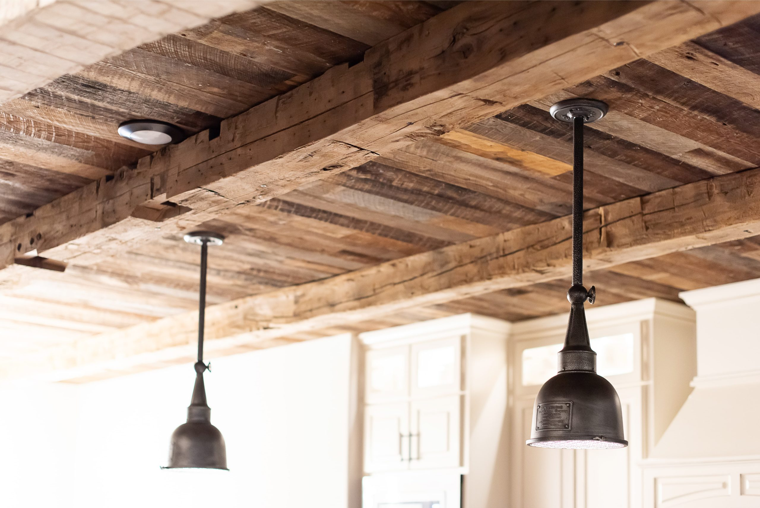 Weathered-Grey-Ceiling-Planking-Hand-Hewn-Beams