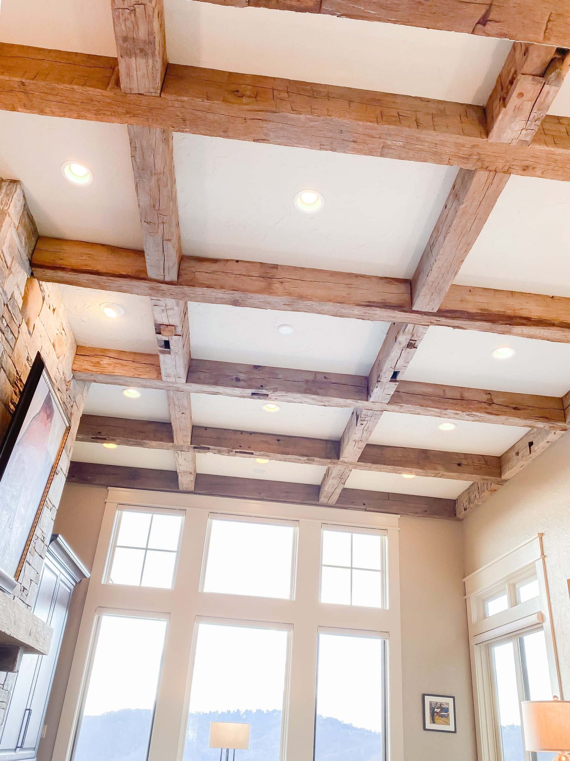 Antique Reclaimed Hand Hewn Timberframing