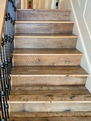 Antique Reclaimed Original Face Oak Stair Treads + Risers